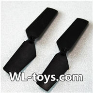 NiHui H377 RC Helicopter Parts-04 Official Tail blade(2pcs)-Black