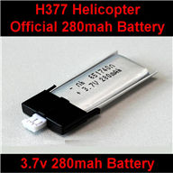 NiHui H377 RC Helicopter Parts-06 Official H377 Battery-3.7V 280mah 20C Battery with White Plug