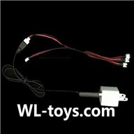NiHui H377 RC Helicopter Parts-32 USB-To-Socket convert plug & USB charger & Upgrade 1-to-3 convert wire-(Not include the 3x battery)