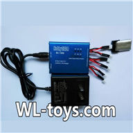 NiHui H377 RC Helicopter Parts-35 MCPX NCPX 1-to-6 charger and Balance charger(BC-1S06)& 3X 1-to-2 convert wire-(Not include the Battery)
