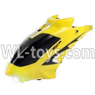 Foda F307 F307C F307H F307L RC helicopter parts-02 Head cover(Yellow)