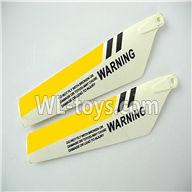 Foda F307 F307C F307H F307L RC helicopter parts-09 Upper main blades(2pcs)-Yellow