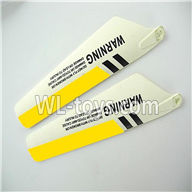 Foda F307 F307C F307H F307L RC helicopter parts-10 Lower main blades(2pcs)-Yellow