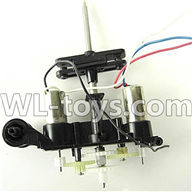 Foda F307 F307C F307H F307L RC helicopter parts-23 Body unit(Lower main grip set & Hollow pipe & Upper and lower main gear & Inner shaft & Main frame & 2pcs Main motor with gear n & Bearing)