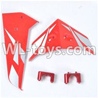 SYMA S033 S033G RC Helicopter parts-13 tail decorate blades with fixtues(red)