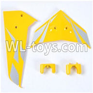 SYMA S033 S033G RC Helicopter parts-14 tail decorate blades with fixtues(Yellow)