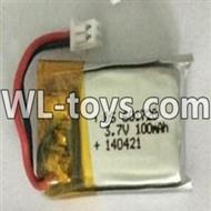 WLtoys V676 RC Quadcopter parts-04 3.7v 100mah battery