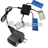 WLtoys V676 RC Quadcopter parts-12 upgrade 1-to-4 charger & balance-charger & conversion plug(Not include the 4 battery)