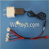 WLtoys V676 RC Quadcopter parts-15 Conversion socket plug & USB & 1-to-5 Cable ((Not include the 5 battery)