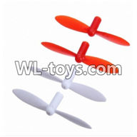 WLtoys V676 RC Quadcopter parts-16 Upgrade-Blades(2x Red & 2x White)