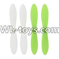 WLtoys V676 RC Quadcopter parts-18 Upgrade-Blades(2x Green & 2x White)