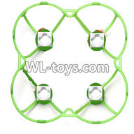 WLtoys V676 RC Quadcopter parts-20 Outer protect frame Version 1-Green