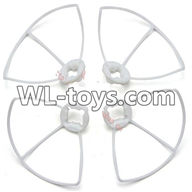 WLtoys V676 RC Quadcopter parts-21 Outer protect frame Version 2-(4X White)