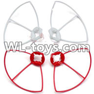 WLtoys V676 RC Quadcopter parts-22 Outer protect frame Version 2-(2X White & 2X Red)