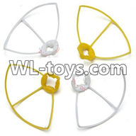 WLtoys V676 RC Quadcopter parts-23 Outer protect frame Version 2-(2X Yellow & 2X White)