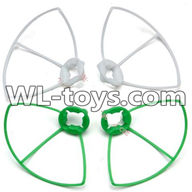 WLtoys V676 RC Quadcopter parts-24 Outer protect frame Version 2-(2X Green & 2X White)