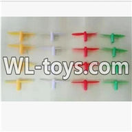 WLtoys V676 RC Quadcopter parts-25 Upgrade-Blades(4x Yellow & 4X Red & 4X Green & 4x White)