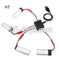 WLtoys V626 RC Quadcopter parts-27 Upgrade 1-to-4 charger with balance charger(Not include the 4x battery)