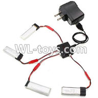 WLtoys V626 RC Quadcopter parts-28 Upgrade 1-to-4 charger with balance charger & USB-to-Socket covert plug(Not include the 4x battery)