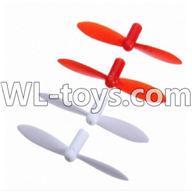 WLtoys V646 RC Quadcopter WL V646 parts-16 Upgrade-Blades(2x Red & 2x White)