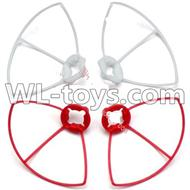 WLtoys V646 RC Quadcopter WL V646 parts-22 Outer protect frame Version 2-(2X White & 2X Red)