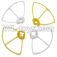WLtoys V646 RC Quadcopter WL V646 parts-23 Outer protect frame Version 2-(2X Yellow & 2X White)