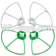 WLtoys V646 RC Quadcopter WL V646 parts-24 Outer protect frame Version 2-(2X Green & 2X White)