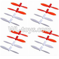 WLtoys V646 RC Quadcopter WL V646 parts-27 Upgrade-Blades(8x Red & 8x White)