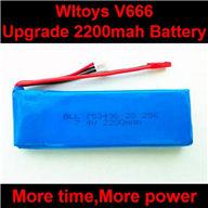 WLtoys V666 RC Quadcopter parts WL toys V666 Upgrade 2200mah battery akku