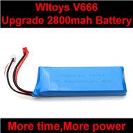 WLtoys V666 RC Quadcopter parts WL toys V666 Upgrade Battery-7.4v 2800mAH battery 40c