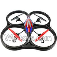 WLtoys V666 RC Quadcopter parts WL toys V666 parts-24 V666 Quadcopter BNF(Only Quadcopter Body ,No battery ,No transmitter,No charger)-Red&Blue