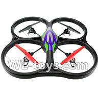 WLtoys V666 RC Quadcopter parts WL toys V666 parts-25 V666 Quadcopter BNF(Only Quadcopter Body ,No battery ,No transmitter,No charger)-Green&Purple
