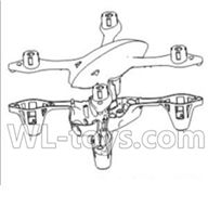 Double horse 9136 RC Quadcopter parts DH 9136 parts-01 Upper cover and bottom frame