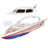 Double Horse 7000 RC boat parts-12 Upper shell cover,canopy & Bottom boat body ,shuang ma DH 7000 parts