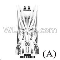 Double Horse 7000 RC boat parts-15 Stickers A for the boat shell cover ,shuang ma DH 7000 parts