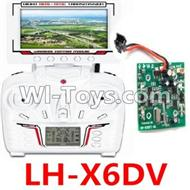 LH-X6DV Parts -21 LH-X6DV Transmitter with FPV real time video Transmission Receiver screen & Circuit board For Lead Honor Quadcopter rc drone parts