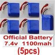 Wltoys A959 Battery Parts-Official 7.4v 1100mah battery(5pcs)Parts,(Both for A959 A959B,Wltoys A959 Parts-desert rc trunk parts,rc car and rc racing car Parts