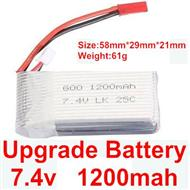 Wltoys A969 Parts-04 Upgrade 1200mah battery For Wltoys A969 desert rc trunk parts,rc car and rc racing car Parts
