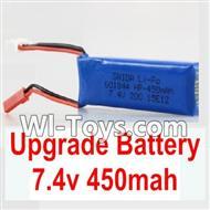 Wltoys K969 Parts-Upgrade 7.4V 450MAH Battery For WLtoys K969 1:28 rc Drift Car Parts desert Off Road Buggy parts