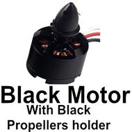 BaYang Toys X16 Parts-14-03 Black Color Brushless Motor with Black Propellers holder-1pcs,BaYang X16 RC Quadcopter Drone Spare Parts,BaYang Toys X16 Accessoriess Replacement