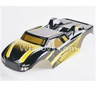 HBX 2128 Wildrider Body Shell yParts-Buggy Body Shell,Car shell-Yellow 28B01,HaiBoXing HBX 2128 RC Car Parts 1/24