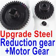 Wltoys K929-B Parts-Upgrade Steel Reduction gear + Upgrade Steel Motor gear,1/18 Wltoys K929-B RC Car Parts