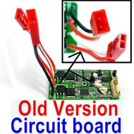 Subotech BG1510D Parts-DZDB04 Old Version Circuit board,Receiver board(Old version-The two plug are all Red color),Subotech BG1510D RC Car Spare parts Accessories,1:24 4WD BG1510D RC Racing Car parts,High Speed Drifting Buggy Parts