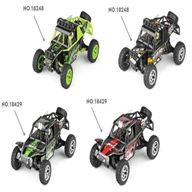 WLtoys 18428 rc car Wltoys 18428 High speed 1:18 Full-scale rc racing car,1: 18 Nini Electric four-wheel-climbing car with Brake Function-Green color