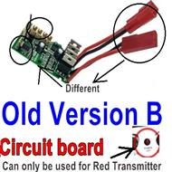 SuBotech BG1508 Parts-DZDB01 Old Version B-Circuit board,Receiver board(Can only be used for the Red light Transmitter),Subotech BG1508 RC Car Spare parts Accessories,1:12 4WD BG1508 RC Racing Car parts,High Speed Drifting Buggy Parts