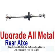 WPL B-14 B14 Parts-08-08 Upgrade All Metal Rear axle shaft(Directlry install,Include the shaft,metal gear,Bearing) ,WPL B-14 B14 RC Car Parts,WPL 4X4 Parts,WPL B14 B-14 RC Military Truck Spare parts Accessories,WPL 1:16 Off-road Truck Parts