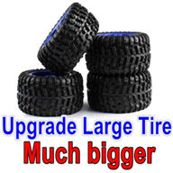 Wltoys 12428 Upgrade Tires Wheels. large Much biger,can be used for Official 12428 car or with Lengthened combiner-12mm