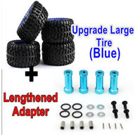 Wltoys 12428 Upgrade Tires-large Much biger for Wltoys 12428 RC Car-Run more Stable
