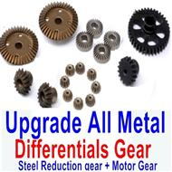 Wltoys A959 A959B A959-B Upgrade All Metal Differentials Gear + Steel Reduction gear + Motor Gear