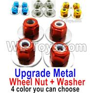 Wltoys 14401 Parts-Upgrade Metal Nut for the Wheel + Washer-4 set-4 Color you can choose,Wltoys 14401 1/14 Parts,Wltoys 14401 RC Car Parts